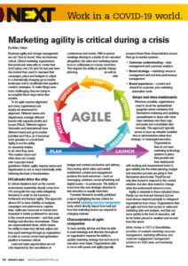BrandMaker Articel in Sales & Marketing Management - Work in a covid World - Marketing agility is critical during a crisis