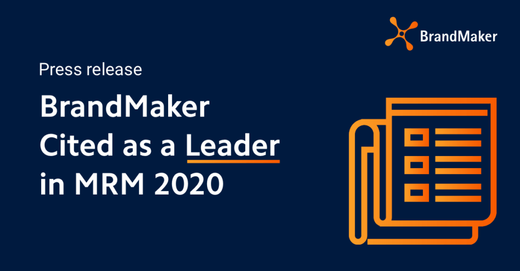 Press release: BrandMaker cited as a leader in MRM 2020