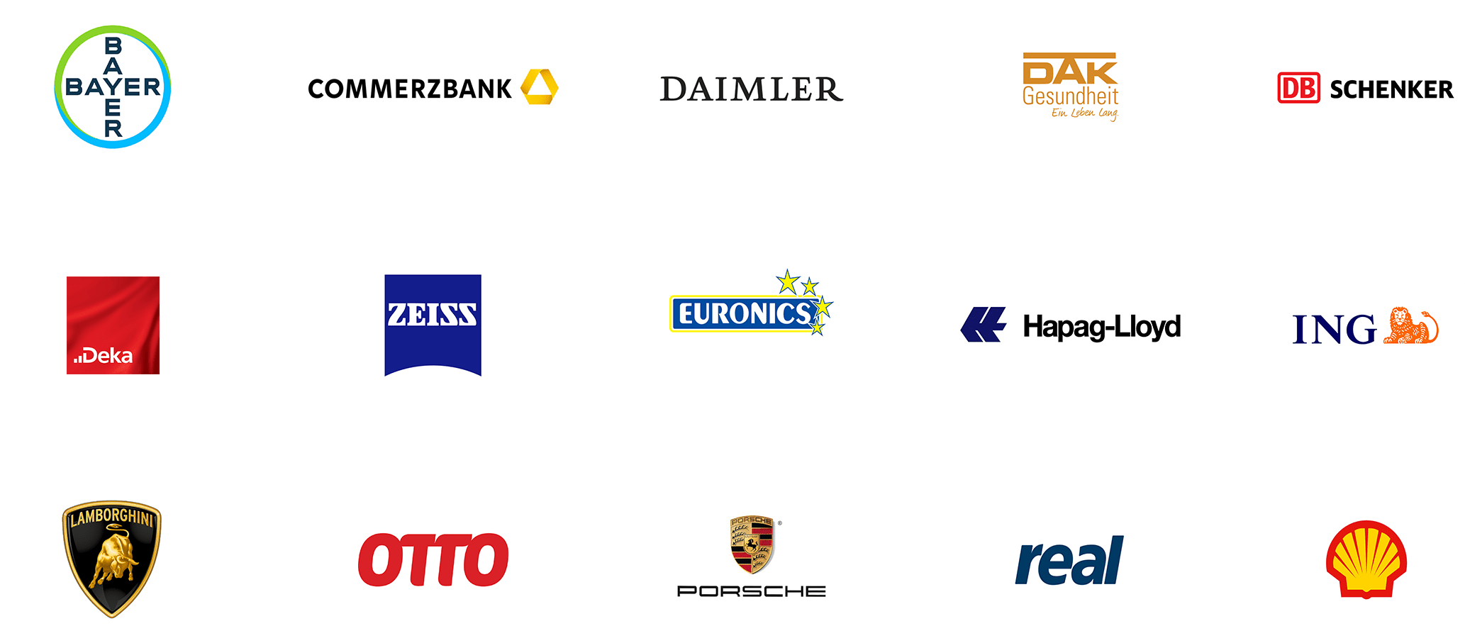 Overview Brandmaker customer logos
