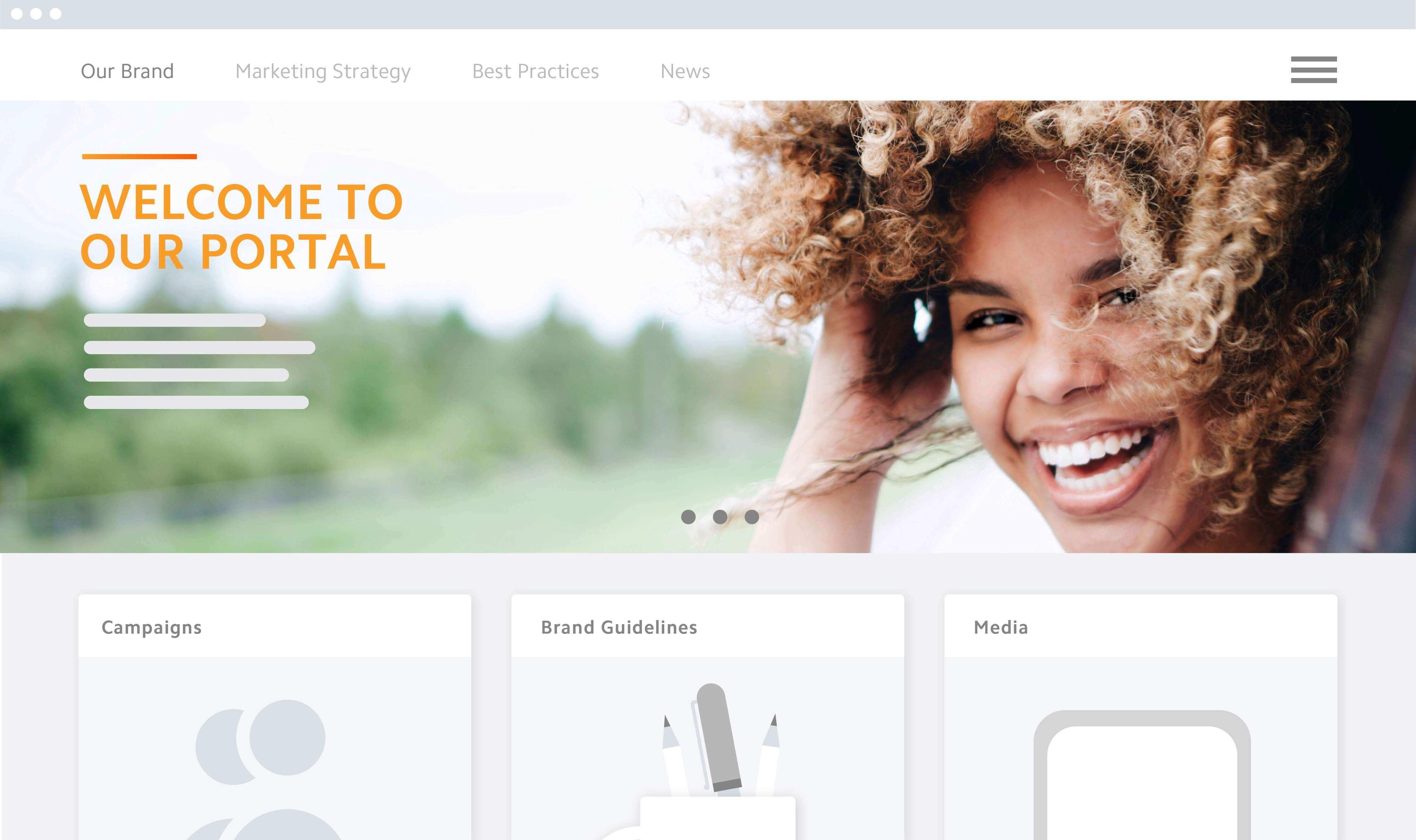 Brand Portal Homepage