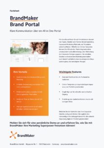 Product Factsheet BrandMaker Brand Portal