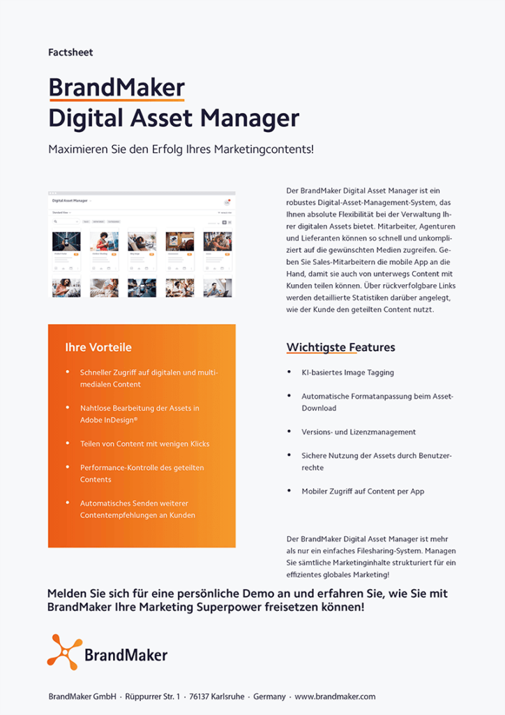Product Factsheet BrandMaker Digital Asset Manager