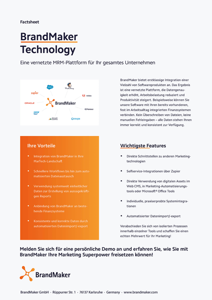 Product Factsheet BrandMaker Technology