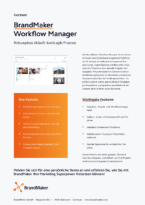 Product Factsheet BrandMaker Workflow Manager