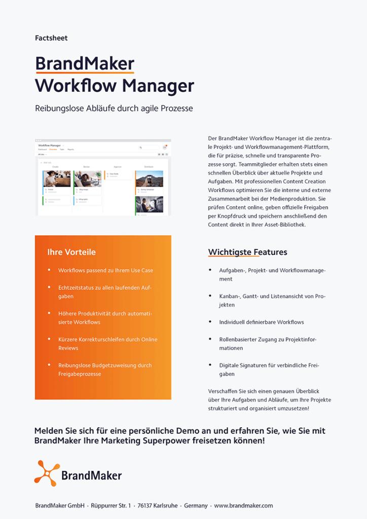 Product Factsheet BrandMaker Workflow Manager