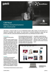 Case Study Cafe Royal BrandMaker