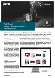 Case Study Cafe Royal BrandMaker