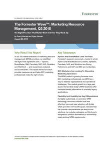 Forrester Wave Report MRM Marketing Resource Management