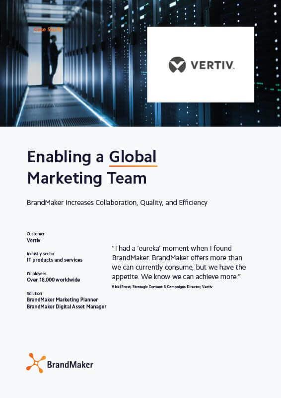 Case Study Vertiv BrandMaker