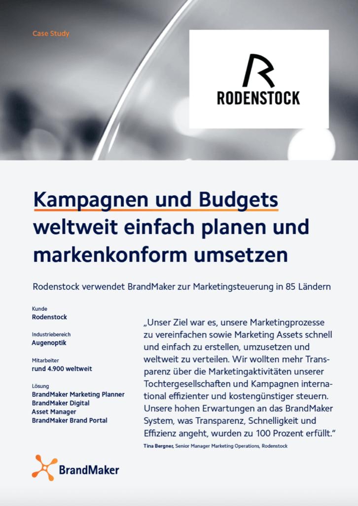 BrandMaker Case Study Rodenstock Kampagnenmanagement Kampagnenplanung