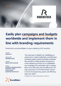 BrandMaker Case Study Rodenstock campaign planning and management