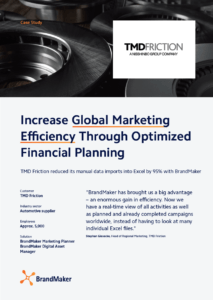 BrandMaker Case Study: TMD Friction. Increase Global Marketing Efficiency Through Optimized Financial Planning.