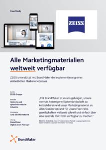 ZEISS Case Study - BrandMaker. Alle Marketingmaterialien weltweit verfügbar