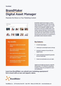 BrandMaker Factsheet Digital Asset Manager EN