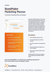 BrandMaker Product Factsheet Marketing Planner EN