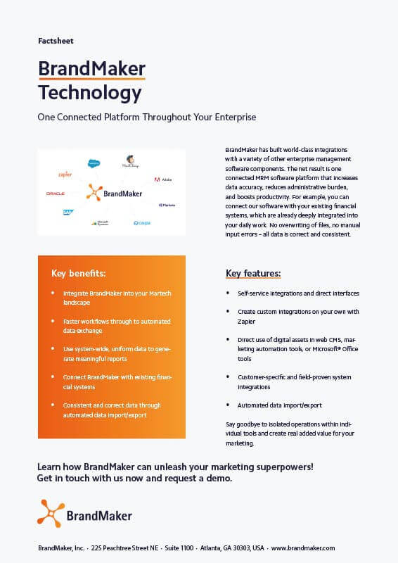 BrandMaker Product Factsheet Technology EN