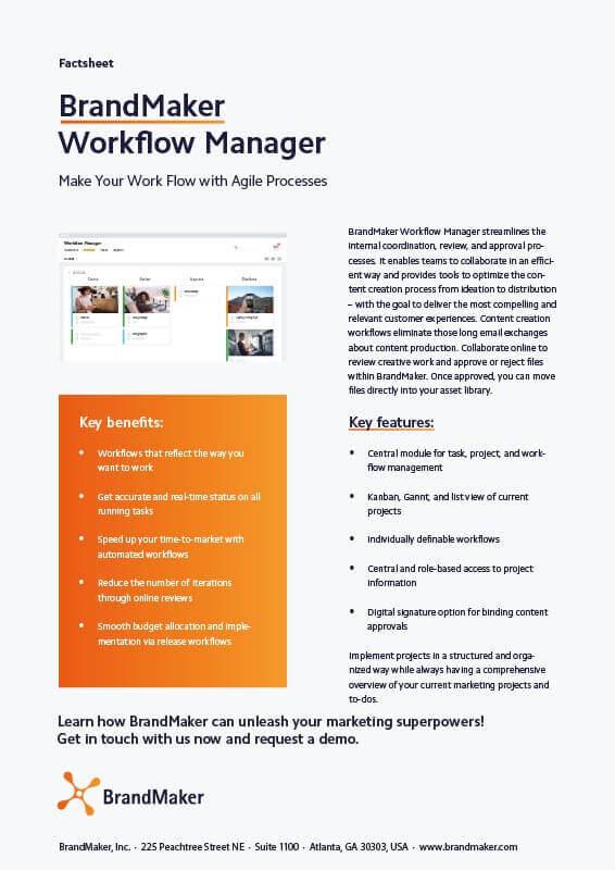 BrandMaker Product Factsheet Workflow Manager EN