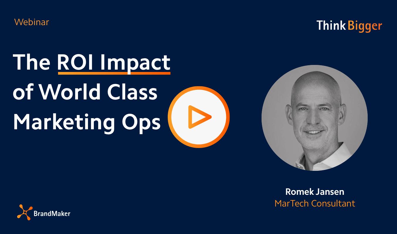 Webinar ROI Impact of World Class Marketing Ops