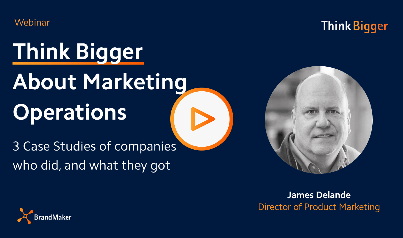 Webinar Think Bigger about marketing Operations
